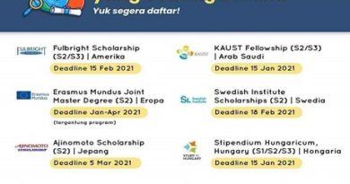 8 Beasiswa Luar Negeri yang sedang Dibuka