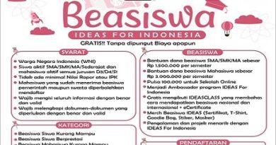 BEASISWA IDEAS FOR INDONESIA - ejogja