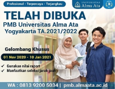PMB Universitas Alma Ata Yogyakarta 2021