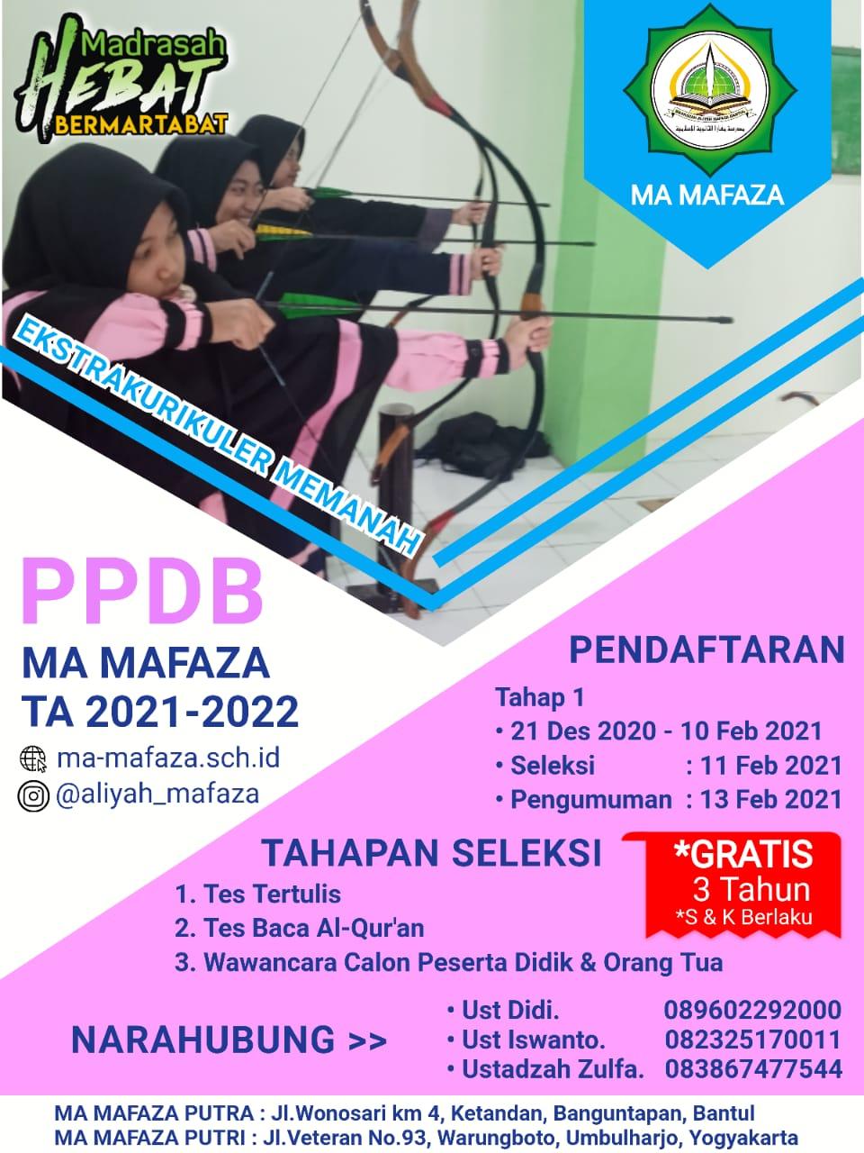 PPDB MA Mafaza Bantul - ejogja 2
