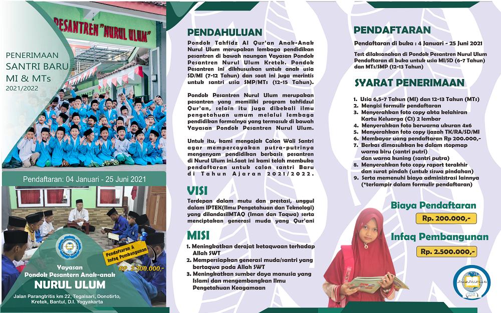 PSB Pesantren Nurul Ulum Bantul - ejogja2