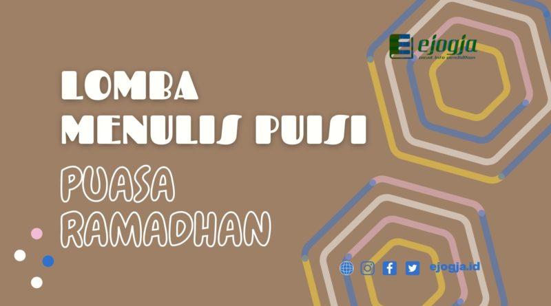 Lomba Menulis Puisi Ramadhan ejogja