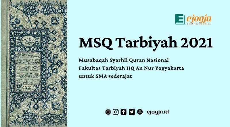 Cover MSQ Tarbiyah 2021